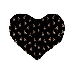 French Bulldog Standard 16  Premium Heart Shape Cushions by Valentinaart
