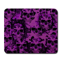 Cloudy Skulls Black Purple Large Mousepads by MoreColorsinLife