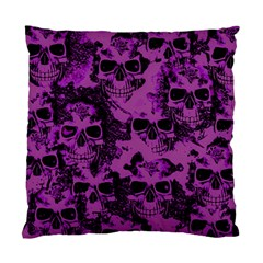 Cloudy Skulls Black Purple Standard Cushion Case (two Sides) by MoreColorsinLife
