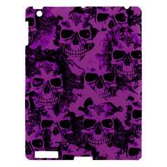 Cloudy Skulls Black Purple Apple Ipad 3/4 Hardshell Case by MoreColorsinLife