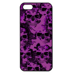 Cloudy Skulls Black Purple Apple Iphone 5 Seamless Case (black) by MoreColorsinLife