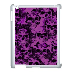 Cloudy Skulls Black Purple Apple Ipad 3/4 Case (white) by MoreColorsinLife