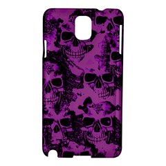 Cloudy Skulls Black Purple Samsung Galaxy Note 3 N9005 Hardshell Case by MoreColorsinLife
