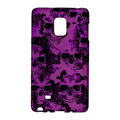 Cloudy Skulls Black Purple Galaxy Note Edge by MoreColorsinLife