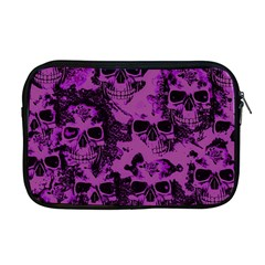 Cloudy Skulls Black Purple Apple Macbook Pro 17  Zipper Case by MoreColorsinLife