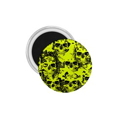 Cloudy Skulls Black Yellow 1 75  Magnets