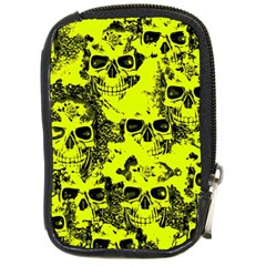 Cloudy Skulls Black Yellow Compact Camera Cases by MoreColorsinLife