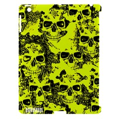 Cloudy Skulls Black Yellow Apple Ipad 3/4 Hardshell Case (compatible With Smart Cover) by MoreColorsinLife