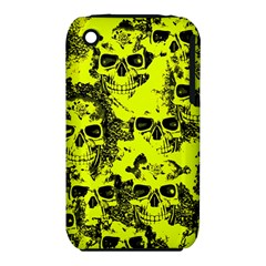 Cloudy Skulls Black Yellow Iphone 3s/3gs by MoreColorsinLife
