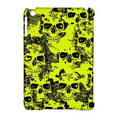 Cloudy Skulls Black Yellow Apple Ipad Mini Hardshell Case (compatible With Smart Cover) by MoreColorsinLife