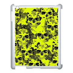 Cloudy Skulls Black Yellow Apple Ipad 3/4 Case (white) by MoreColorsinLife