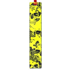 Cloudy Skulls Black Yellow Large Book Marks by MoreColorsinLife