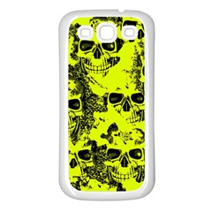 Cloudy Skulls Black Yellow Samsung Galaxy S3 Back Case (white) by MoreColorsinLife