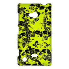 Cloudy Skulls Black Yellow Nokia Lumia 720 by MoreColorsinLife