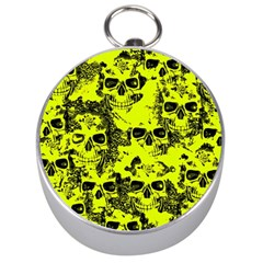 Cloudy Skulls Black Yellow Silver Compasses by MoreColorsinLife