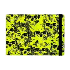 Cloudy Skulls Black Yellow Ipad Mini 2 Flip Cases by MoreColorsinLife