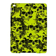 Cloudy Skulls Black Yellow Ipad Air 2 Hardshell Cases by MoreColorsinLife
