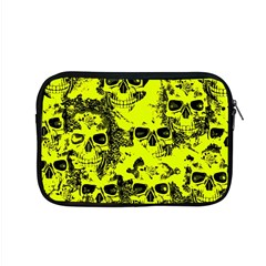 Cloudy Skulls Black Yellow Apple Macbook Pro 15  Zipper Case by MoreColorsinLife