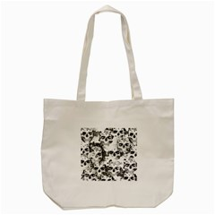 Cloudy Skulls B&w Tote Bag (cream) by MoreColorsinLife