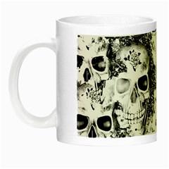 Cloudy Skulls B&w Night Luminous Mugs by MoreColorsinLife