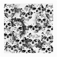 Cloudy Skulls B&w Medium Glasses Cloth (2 Side) by MoreColorsinLife