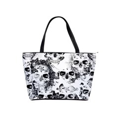 Cloudy Skulls B&w Shoulder Handbags by MoreColorsinLife