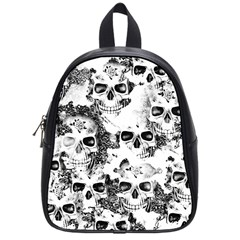 Cloudy Skulls B&w School Bags (small)  by MoreColorsinLife