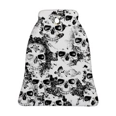 Cloudy Skulls B&w Ornament (bell) by MoreColorsinLife