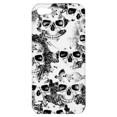 Cloudy Skulls B&w Apple Iphone 5 Hardshell Case by MoreColorsinLife