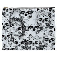 Cloudy Skulls B&w Cosmetic Bag (xxxl)  by MoreColorsinLife