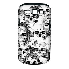 Cloudy Skulls B&w Samsung Galaxy S Iii Classic Hardshell Case (pc+silicone) by MoreColorsinLife
