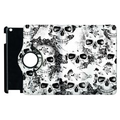 Cloudy Skulls B&w Apple Ipad 3/4 Flip 360 Case by MoreColorsinLife