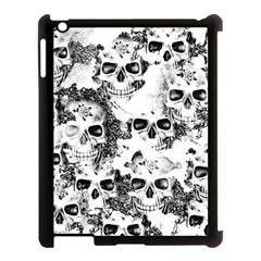 Cloudy Skulls B&w Apple Ipad 3/4 Case (black) by MoreColorsinLife