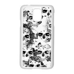 Cloudy Skulls B&w Samsung Galaxy S5 Case (white) by MoreColorsinLife