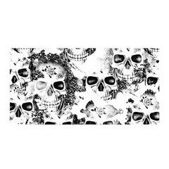 Cloudy Skulls B&w Satin Wrap by MoreColorsinLife