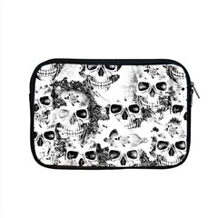 Cloudy Skulls B&w Apple Macbook Pro 15  Zipper Case by MoreColorsinLife