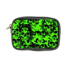 Cloudy Skulls Black Green Coin Purse by MoreColorsinLife