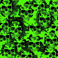 Cloudy Skulls Black Green Magic Photo Cubes by MoreColorsinLife