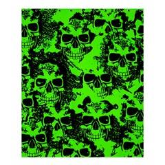 Cloudy Skulls Black Green Shower Curtain 60  X 72  (medium)  by MoreColorsinLife