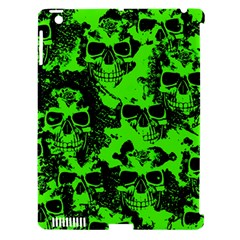 Cloudy Skulls Black Green Apple Ipad 3/4 Hardshell Case (compatible With Smart Cover) by MoreColorsinLife