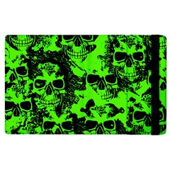 Cloudy Skulls Black Green Apple Ipad 3/4 Flip Case by MoreColorsinLife
