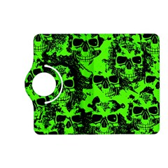 Cloudy Skulls Black Green Kindle Fire Hd (2013) Flip 360 Case by MoreColorsinLife