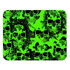 Cloudy Skulls Black Green Double Sided Flano Blanket (large)  by MoreColorsinLife