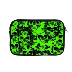 Cloudy Skulls Black Green Apple Macbook Pro 13  Zipper Case by MoreColorsinLife