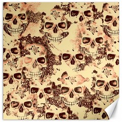 Cloudy Skulls Beige Canvas 16  X 16   by MoreColorsinLife