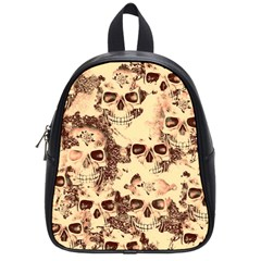 Cloudy Skulls Beige School Bags (small)  by MoreColorsinLife