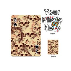 Cloudy Skulls Beige Playing Cards 54 (mini)