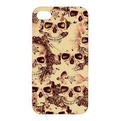 Cloudy Skulls Beige Apple Iphone 4/4s Premium Hardshell Case by MoreColorsinLife