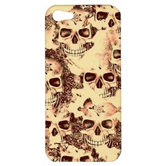 Cloudy Skulls Beige Apple Iphone 5 Hardshell Case by MoreColorsinLife