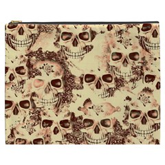 Cloudy Skulls Beige Cosmetic Bag (xxxl)  by MoreColorsinLife